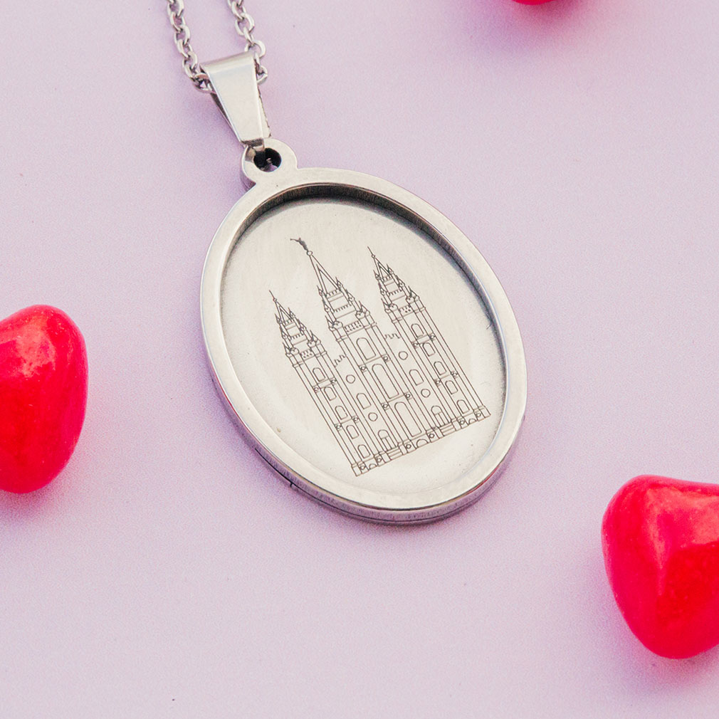 Salt Lake Temple Pendant Necklace - LDP-BPEN-SLCTEMP