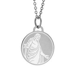 Christus Necklace - Side christus necklace, christ necklace, christus statue necklace,