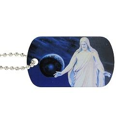 Full Color Christus Dog Tag Keychain/Necklace - LDP-DTG-CHRIST-SUB
