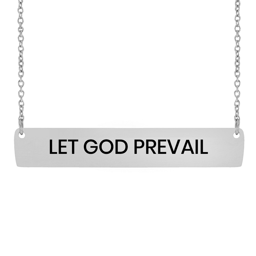 LDS Quote Horizontal Bar Necklace lds quote necklace, lds bar necklace, lds necklace