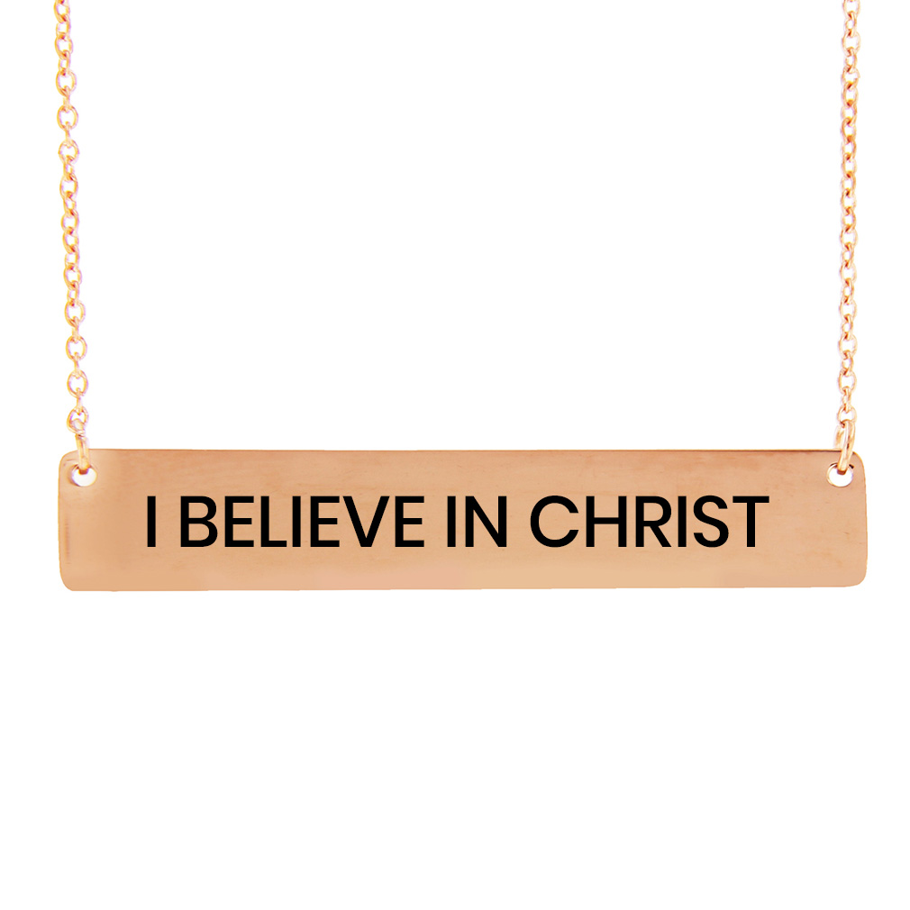 LDS Quote Horizontal Bar Necklace - LDP-HBN-QUOTE