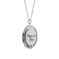 LDS Missionary Mom Locket Necklace - LDP-LN-MISSMOM
