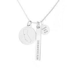 Personalized Mission Charm Necklace