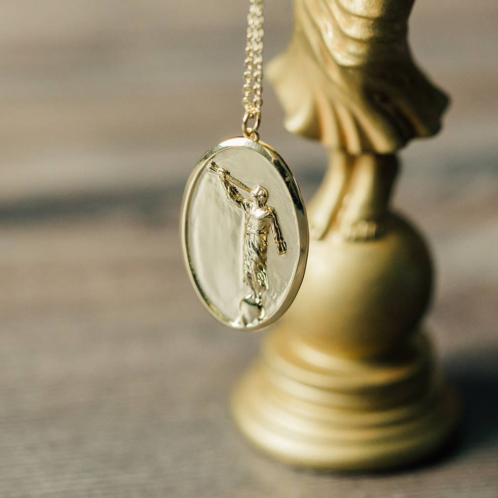 Angel Moroni Pendant Necklace - Silver/Gold - LDP-MORONI-PEN