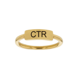CTR Bar Ring bar ring, lds text bar ring