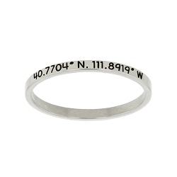 Temple Coordinates Stacking Ring temple coordinate ring, lds temple jewelry, lds temple ring, temple ring, temple coordinates stacking ring