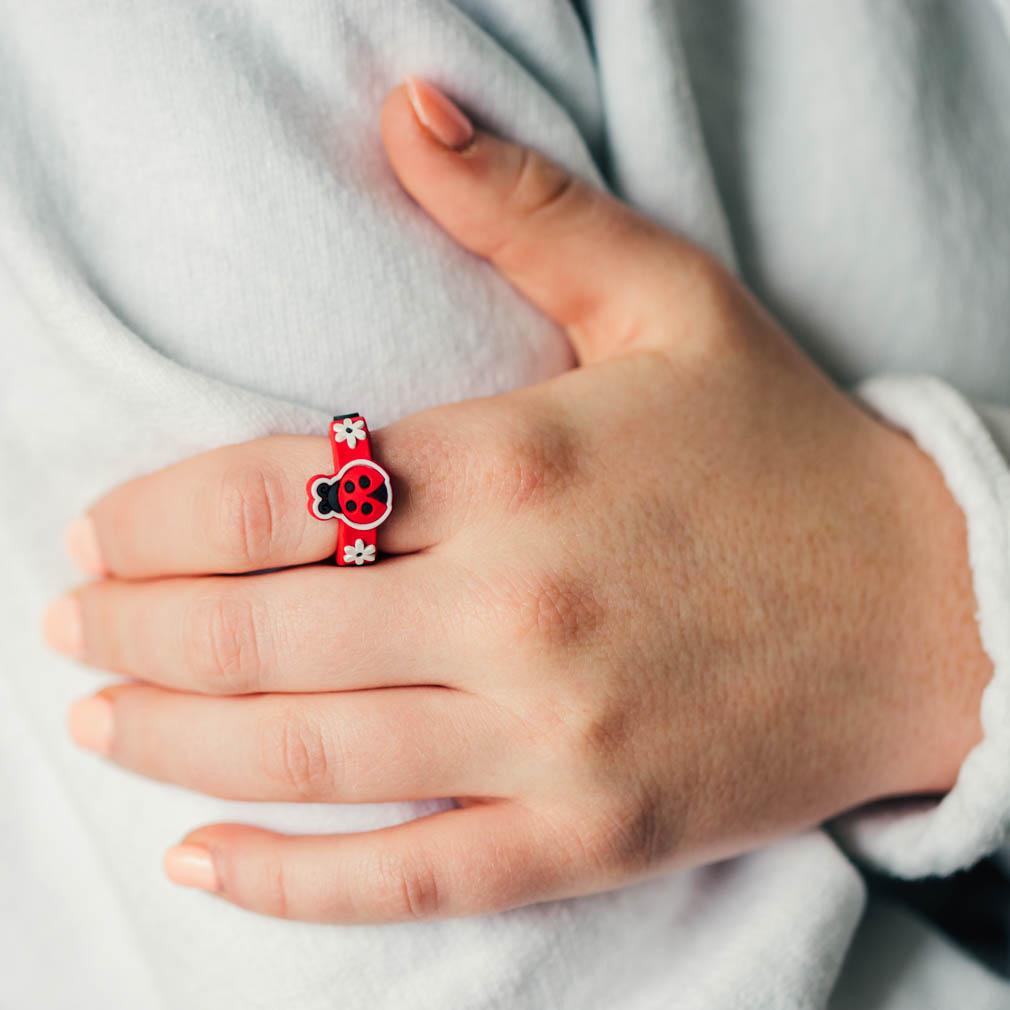 Adjustable Ladybug CTR Ring - RM-JRY260