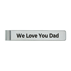 Personalized Fathers Day Tie Bar