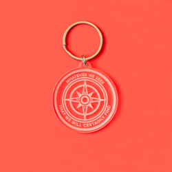 Seek & Find Compass Acrylic Keychain lds keychains, lds keychain, lds quote keychain