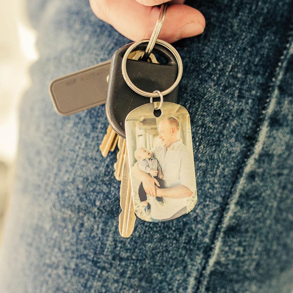 Personalized Photo Dog Tag Keychain - LDP-DTG-SUB-PHOTO