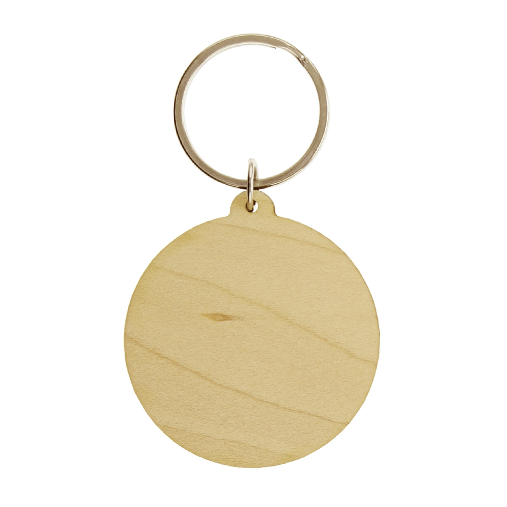 Seek & Find Compass Wood Keychain - LDP-KC-COMPASS-WOOD