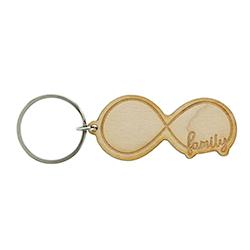 Infinity Family Wood Keychain lds keychains, lds keychain