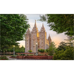 Salt Lake Temple - Calm Summer