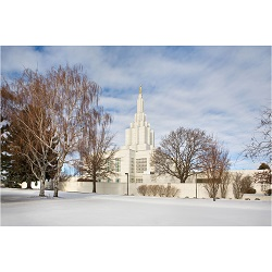 Idaho Falls Temple - Snow