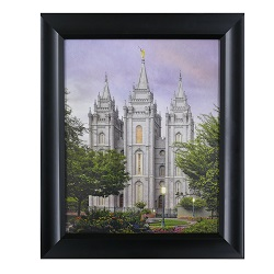 Salt Lake Temple Eden - 8x10 Black Frame