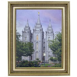 Salt Lake Temple Eden - 8x10 Gold Ribbed Frame