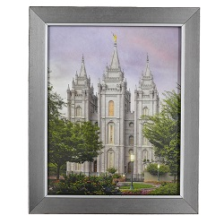 Salt Lake Temple Eden - 8x10 Silver Frame