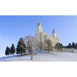 Manti Temple - Snowy Hill