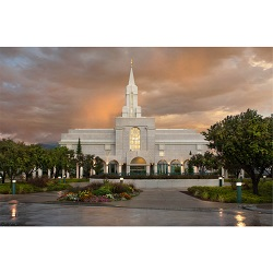 Bountiful Utah Temple - Clearing Storm