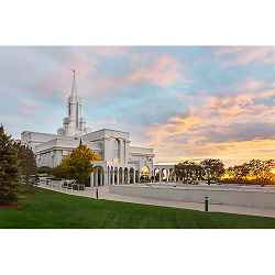 Bountiful Utah Temple - Sunset