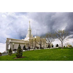 Bountiful Utah Temple - Hill