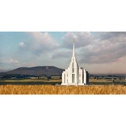 Rexburg Temple & R Mountain - Panoramic