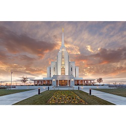 Rexburg Temple - Autumn Sunset