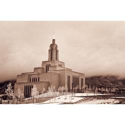 Draper Temple - Infared in the Clouds