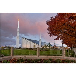 Boise Temple - Sunset