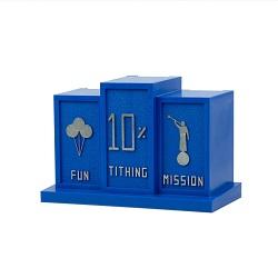 Blue Tithing Bank blue tithing bank,tithing bank,tithing bank for kids,kids tithing bank,kids blue tithing bank,lds tithing,lds tithing bank