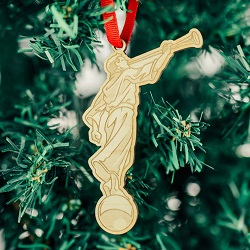 Cutout Angel Moroni Ornament - LDP-ORN-MORONI-CO