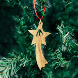 Olivewood Star Nativity Ornament olivewood ornament, star ornament