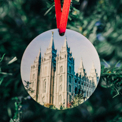 Salt Lake City Photo Temple Ornament salt lake temple ornament, temple ornaments, temple ornament, lds ornaments