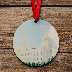 Brigham City Photo Temple Ornament brigham city temple ornament, temple ornaments, temple ornament, lds ornaments