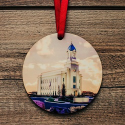 Cedar City Photo Temple Ornament cedar city temple ornament, temple ornaments, temple ornament, lds ornaments