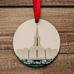 Jordan River Photo Temple Ornament jordan river city center temple ornament, temple ornaments, temple ornament, lds ornaments