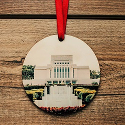 Laie Photo Temple Ornament laie temple ornament, temple ornaments, temple ornament, lds ornaments