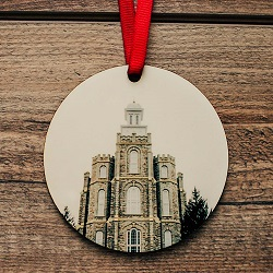 Logan Photo Temple Ornament logan temple ornament, temple ornaments, temple ornament, lds ornaments