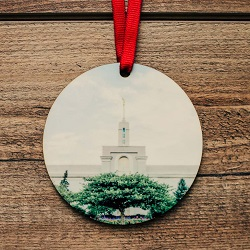 Mount Timpanogos Photo Temple Ornament mount timpanogos temple ornament, temple ornaments, temple ornament, lds ornaments