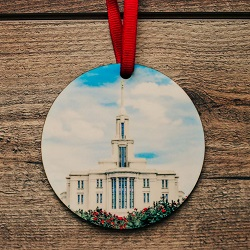 Payson Photo Temple Ornament in Summer payson temple ornament, temple ornaments, temple ornament, lds ornaments