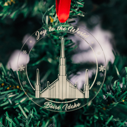 Boise Temple Ornament - Acrylic boise temple ornament, lds boise temple, boise temple decor, lds temple ornament, christmas ornament, christmas gifts, lds christmas gifts, lds decor, lds temple decor, mormon gifts,