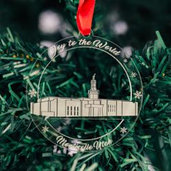 Monticello Temple Ornament - Acrylic monticello temple ornament, lds monticello temple, monticello temple decor, lds temple ornament, christmas ornament, christmas gifts, lds christmas gifts, lds decor, lds temple decor, mormon gifts,