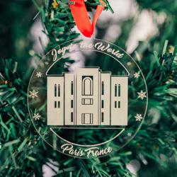 Paris Temple Ornament - Acrylic paris temple ornament, lds paris temple, paris temple decor, lds temple ornament, christmas ornament, christmas gifts, lds christmas gifts, lds decor, lds temple decor, mormon gifts,
