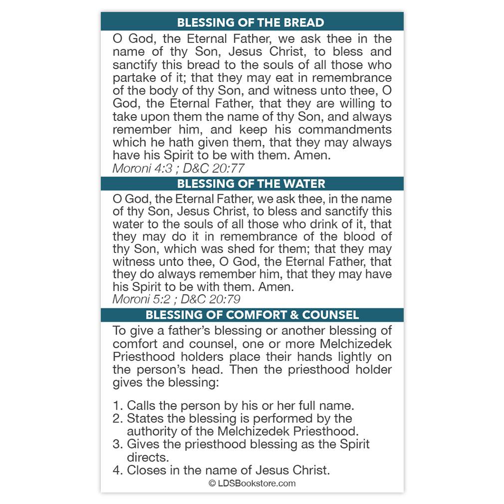 Pocket Priesthood Ordinance Card - LDP-CRD226