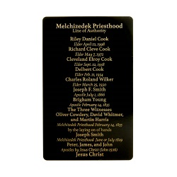 Priesthood Line of Authority Pocket Card priesthood line of authority pocket card, priesthood line of authority gift,