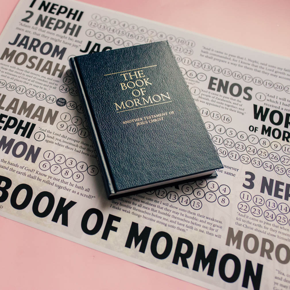 Book of Mormon Reading Chart Poster - Modern - LDP-BOMRC-MOD