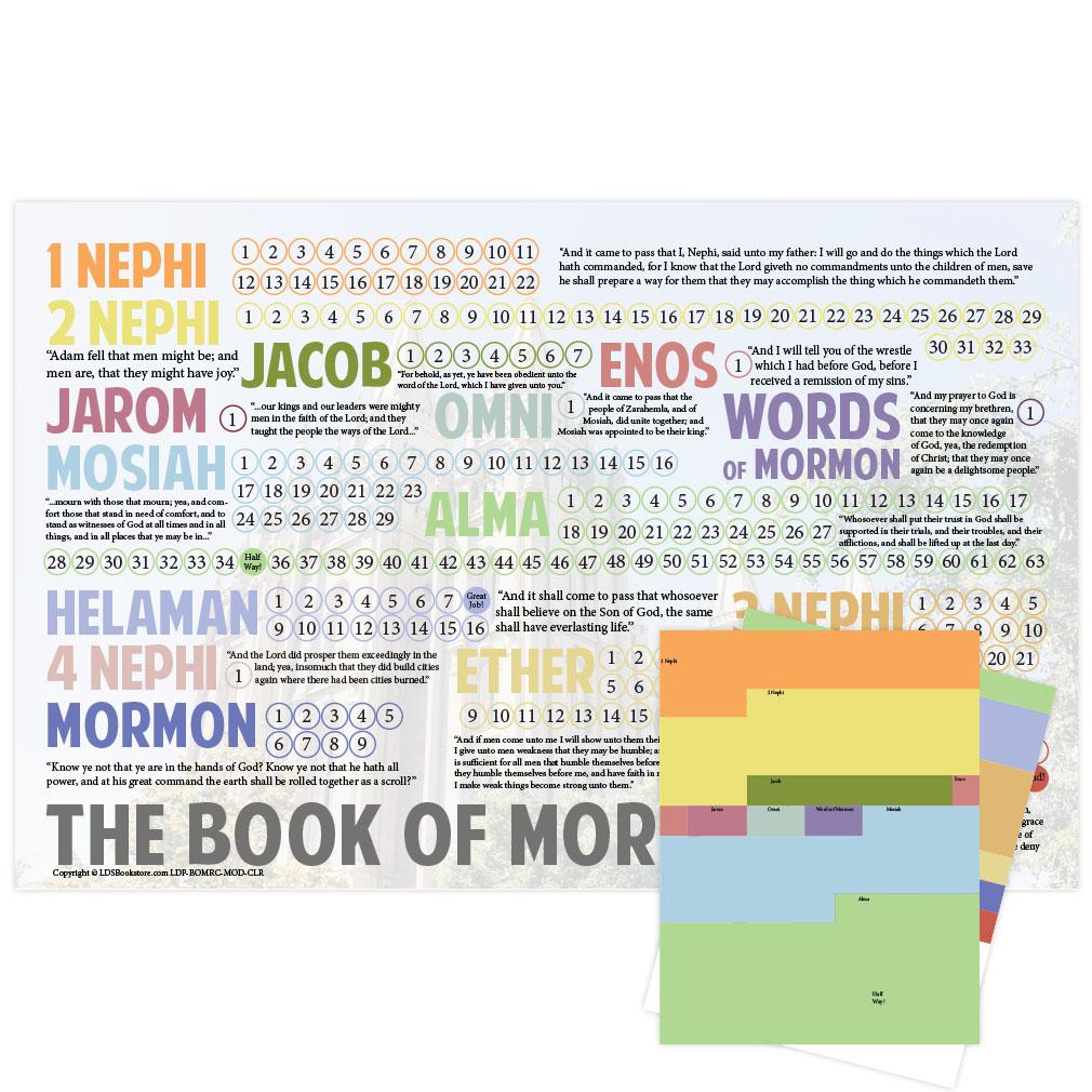 Book of Mormon Reading Chart Poster - Modern - LDP-BOMRC-MOD