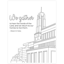 Hear the Words of the Lord General Conference Coloring Page - Printable general conference coloring page, general conference printable