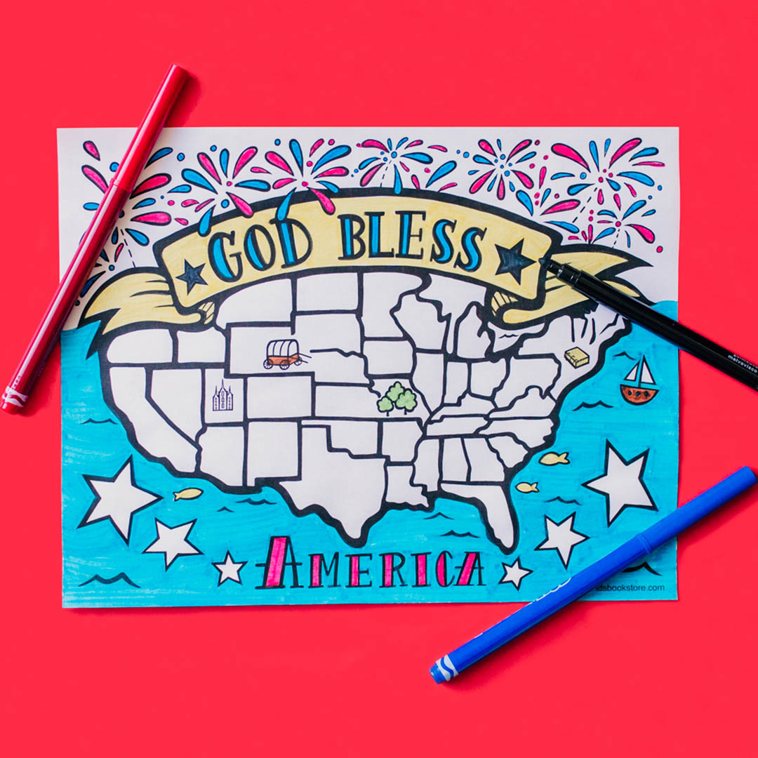 God Bless America Coloring Page - LDPD-COLOR-AMERICA19