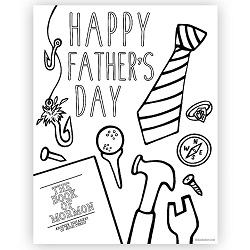 Happy Fathers Day Coloring Page - Printable lds fathers day printable, lds fathers day coloring page, lds printable